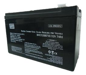 Bateria Weg 12v 7ah P/ Alarme/no Break/cerca Elétrica