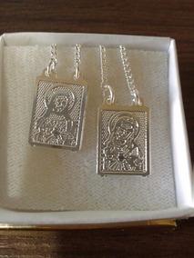 Sagrado Coraçâo De Jesus Escapulário Folheado A Prata