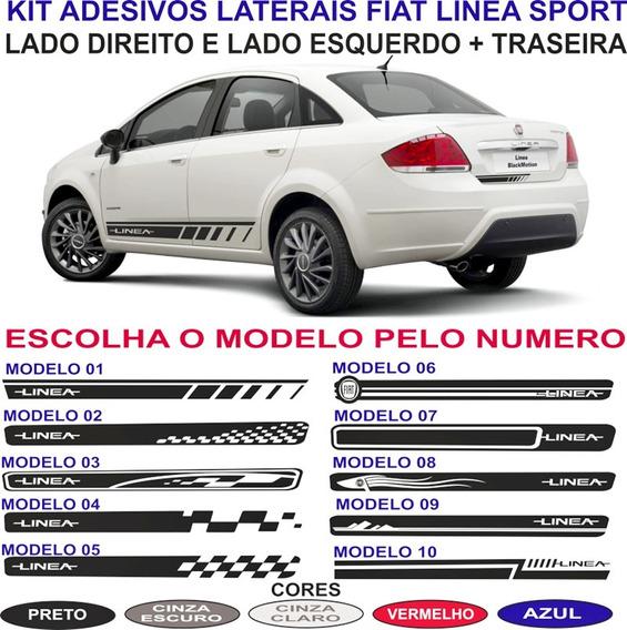 Kit Adesivos Fiat Linea Sport Laterais E Traseira