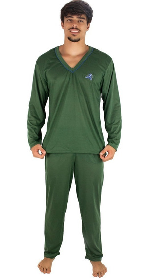 Kit 5 Pijama Masculino Longo Blusa Comprida E Calça Longa