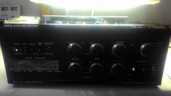 Amplificador Quasar Qa1150 Perfeito, Saidas Novas Importado