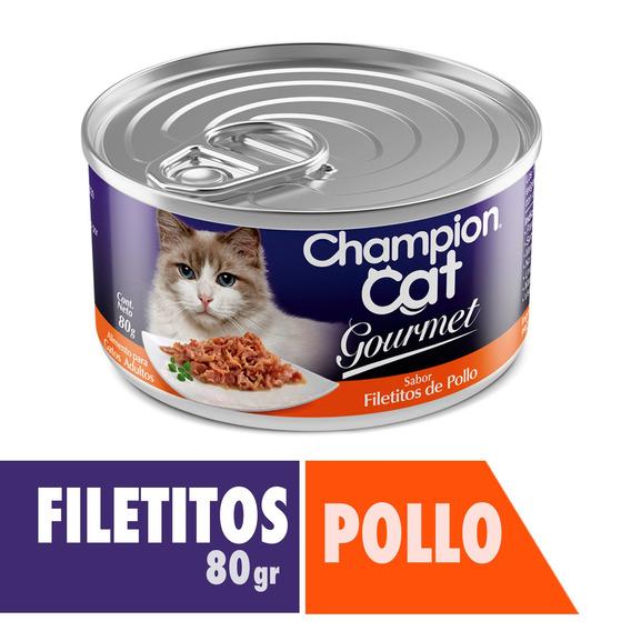 Champion Cat Gourmet Filetitos De Pollo 24x80 G