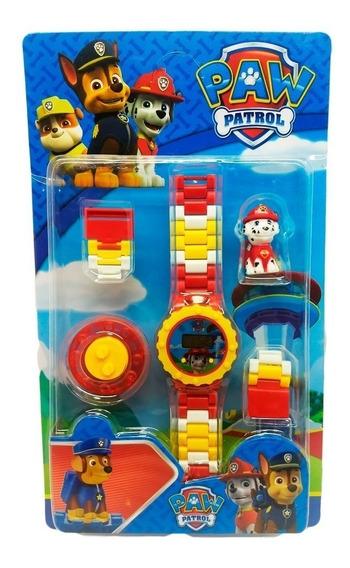 Relógio Digital Infantil Patrulha Canina + Lego Marshall