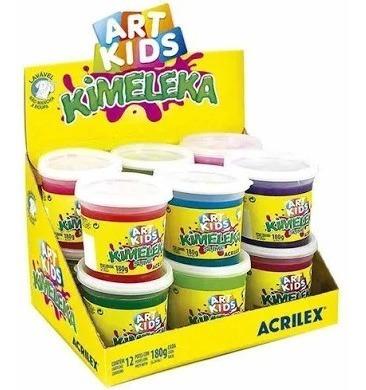 Kimeleka Slime 180g Art Kids Acrilex 12 Unidades