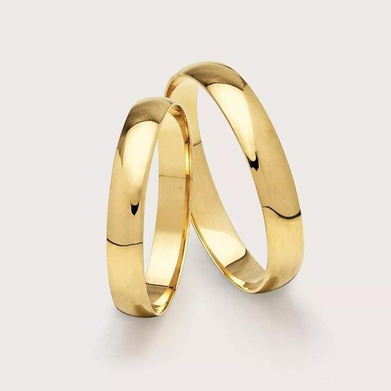 Aliança De Ouro Casamento 18k 750 Legítimo 25/01 Par 2,5mm