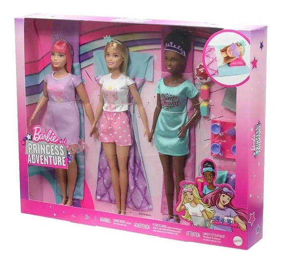 Boneca Barbie Aventura De Princesas Festa Do Pijama - Mattel