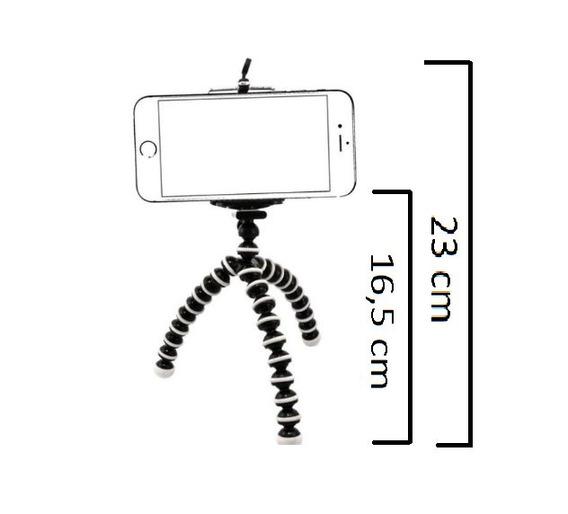 Tripé Flexível Ajustável Celular Câmera Smartphone Pequeno