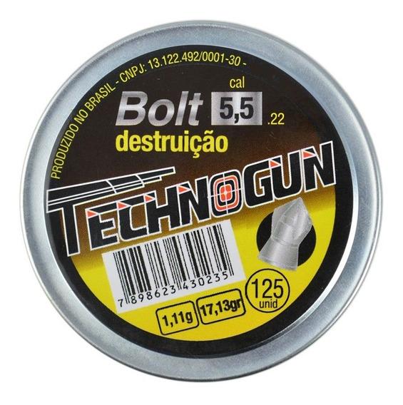 Chumbinho Technogun Bolt Destruição 5.5mm 125un.