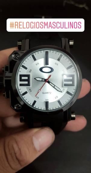 Relógio Masculino Oak Lindo Estiloso Preto Top Barato