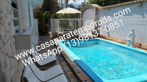 Imagem 1 de 14 de Casarão, 30 Metros Da Praia Piscina,wfi,churr,tv Lcd