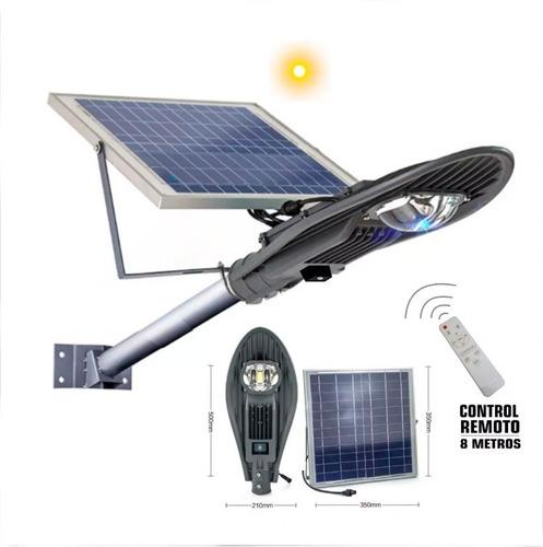 Kit Reflector Led 50watts+panel Solar+control Remot+tempori