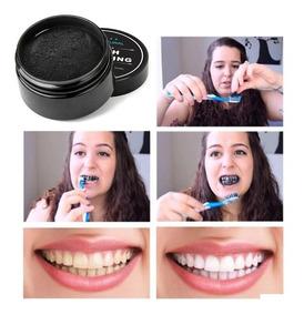 Pó Clareador Dental 100% Carvão Ativado O Melhor + Escova