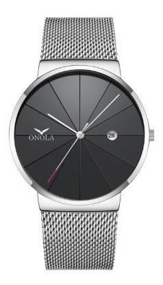 Relógio Onola 3804 Masculino De Quartzo Pulseira De Aço Moda
