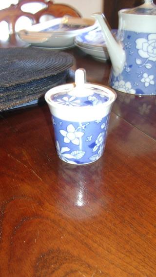 Antigua Azucarera O Cremera Porcelana Marly Blue Garden