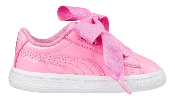 Zapatillas Puma Basket Heart Patent Ros De Bebes/niñas