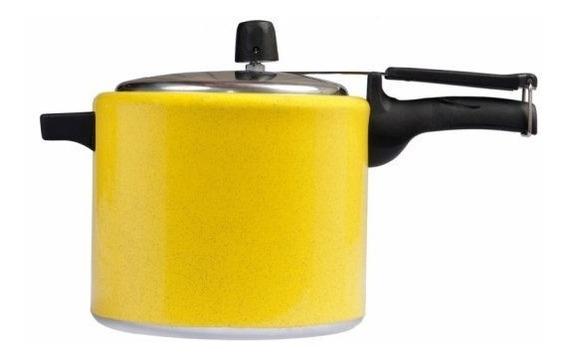 Panela De Pressão 4,5 Litros Mr. Cook Alumínio Amarela