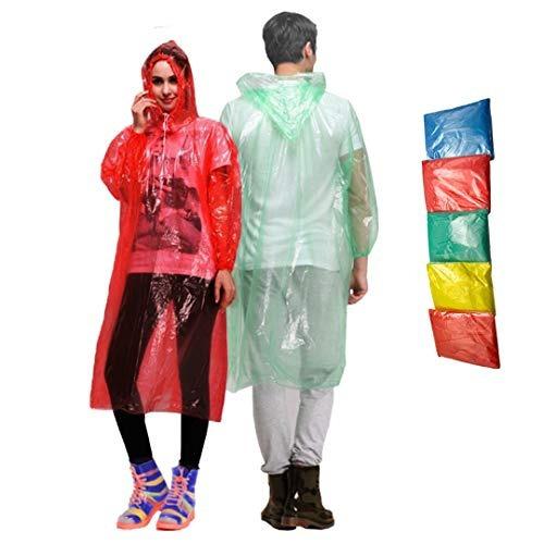 Impermeable Rain Ponchos Juego De 5 Abrigos Desechables Pa