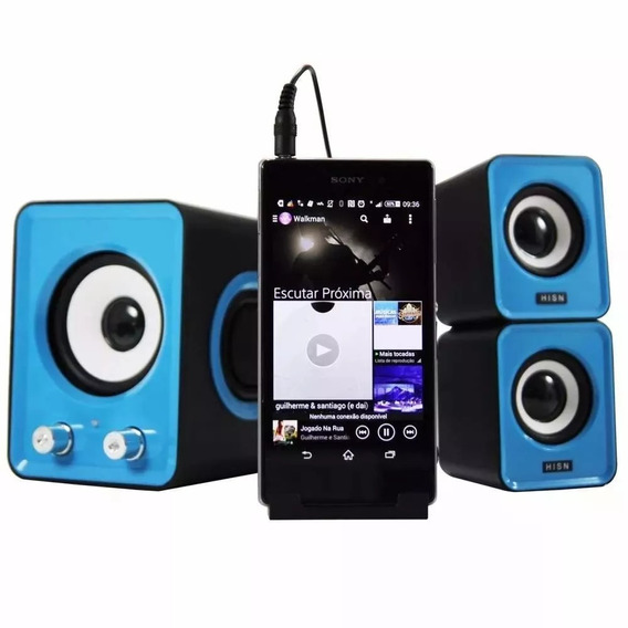 Kit Som Para Smartfones 3x1 C/ Subwoofer 11w Samsung E Outro