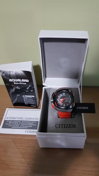 Relógio Citizen Aqualand Jv 0020-21f Meia Lua