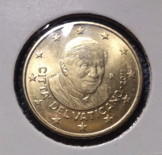 Moneda 50 Cents Vaticano 2011 Benedicto Xvi