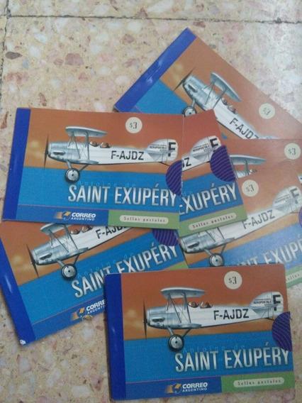 Sellos Postales Saint Exupery Argentina Sin Dentar Coleccion