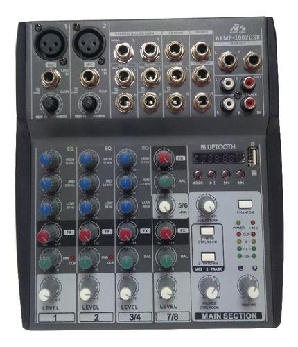 Mixer 1002 Usb/bluetooth Mezclador Sonido 2 Microfonos