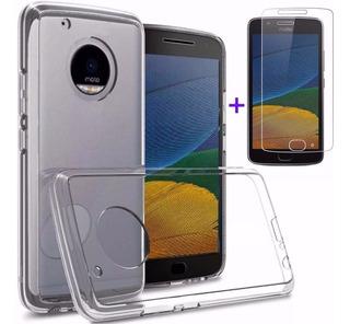 Capa Case Capinha Moto G7 One G5s G6 G5 Plus +pelicula Vidro