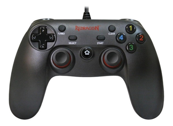 Controle joystick Redragon Saturn G807 preto
