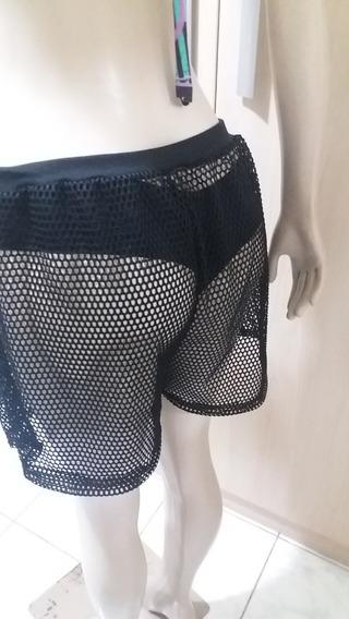 Shorts Saida Praia Arrastão Size Plus Tamanho 56 A 58