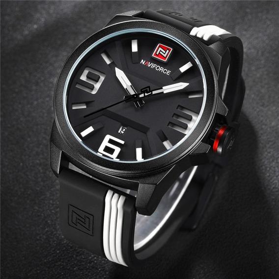 Relógio Naviforce Esporte Masculino Original Nf9098 Preto
