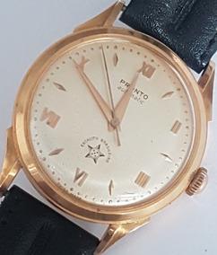 Relógio Pronto Militar (ex. Brasileiro) Vintage Em Ouro 18k