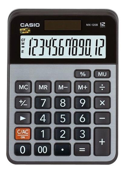Calculadora De Mesa Casio 12 Dígitos Mx-120b Prata Original