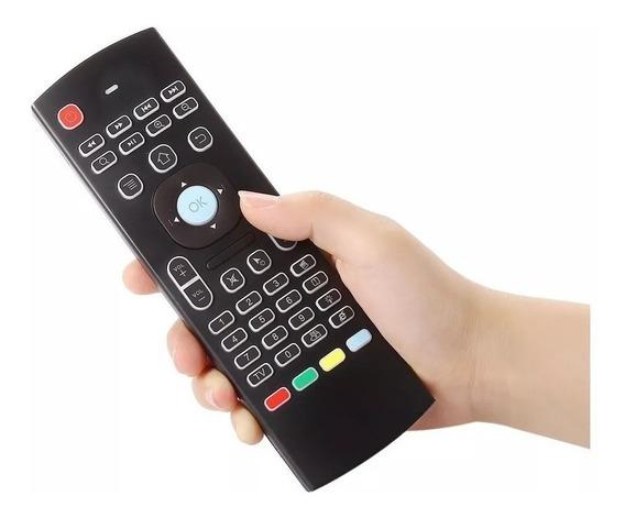 Controle Air Mouse Teclas Iluminadas E Sensor De Movimento