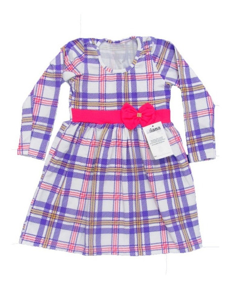 Kit 12 Vestidos Infantil Meninas Estampado M/longa Atacado