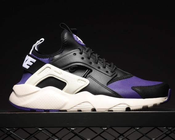 Zapatillas Nike Air Huarache Run Premium Negro Y Índigo