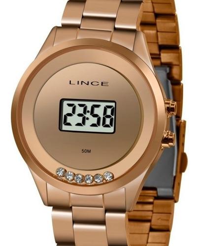 Relógio Lince Feminino Digital Rose Sdr4610l Bxrx