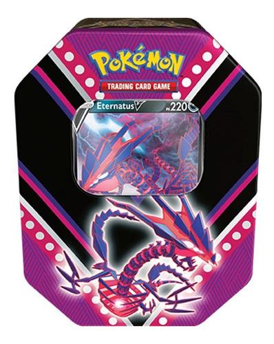 Card Game Pokémon Lata Poderes V Eternatus Copag