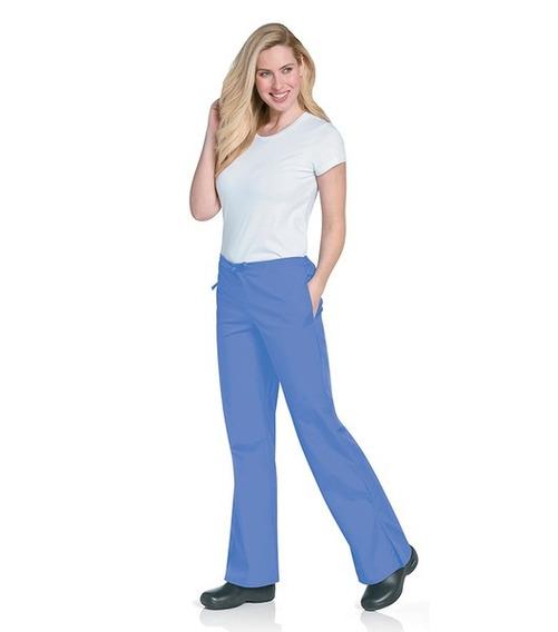 Pantalón Acampanado Marca Scrubzone Color Azul Claro