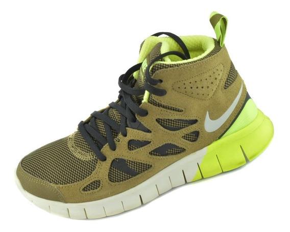 Tenis Nike Free Run 2 Caballero Café Envío Gratis