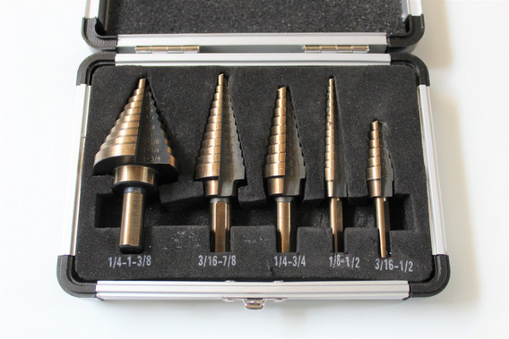"""HSS Steel Step Drill Bit 1//4-3//4/"""" Titanium Coated Bits Multi Cut Tool"""