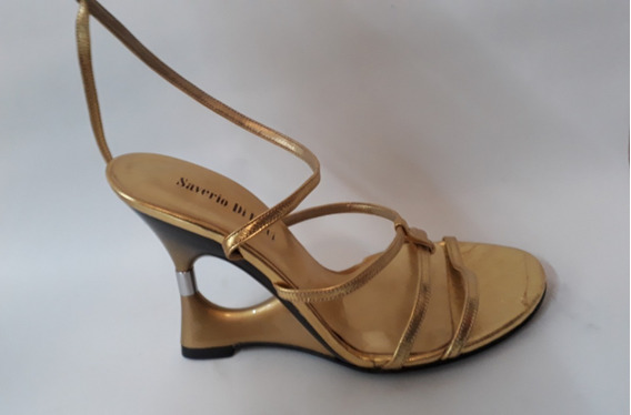Zapato Sandalia Dorado Numero 35