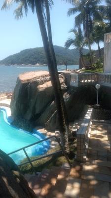 São Vicente- Ilha Porchat-1 Dorm-lazer-pisc-churr-v.mar-show