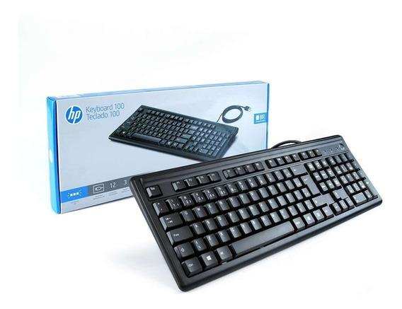 Teclado Hp 100 Abnt2 Com Tecla Ç Portugues Com Fio Cabo Usb Ñ Logitech K120 Microsoft Dell Nota Fiscal