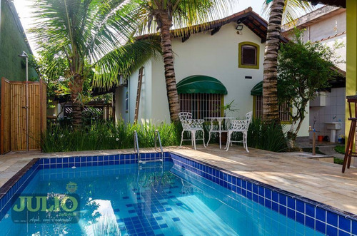Imagem 1 de 30 de Casa Com 3 Dormitórios Com Piscina, 128 M² Por R$ 550.000 - Jardim Suarão - Itanhaém/sp - Ca4066