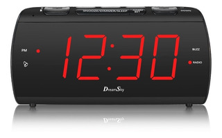 Radio Reloj Despertador Grande Con Radio Fm Y Puerto Usb