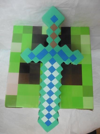 Espada Goma Eva Y Mascara De Cartón Minec -