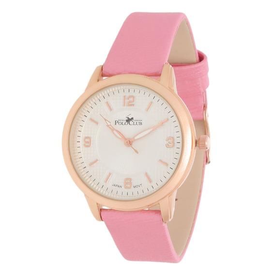 Reloj Dama Mano Polo Club Mujer Rosa Rlpc2935c