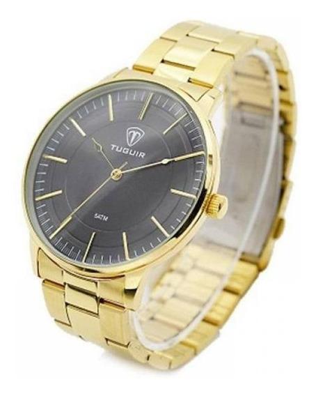 Relógio Masculino Tuguir 5000 Dourado