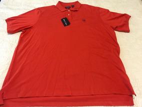 Camiseta Polo Chaps 4xl Naranja Stretch Talllas Extras