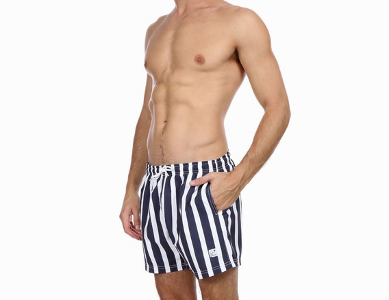 Traje De Baño Para Caballero Navy Stripes Marca Palmers